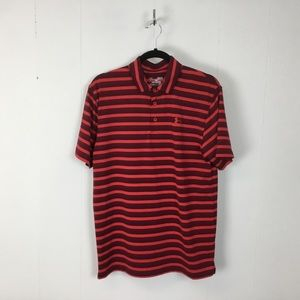 Under armour mens red loose fit polo shirt M